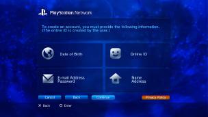 Playstation store registrace