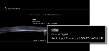 PS3™ | Audio Output Settings