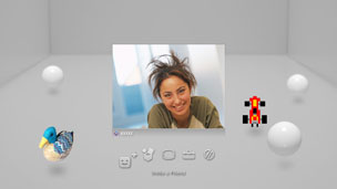 If the person joins the chat  his or her image will be displayed and the voice   video chat will begin