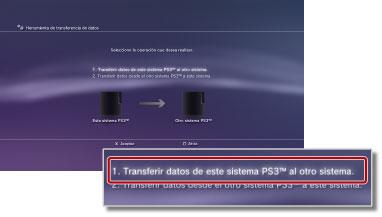 PS3™ | Herramienta de transferencia de datos
