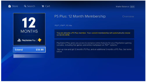 Subscribing to PlayStation®Plus | PlayStation®4 User's Guide