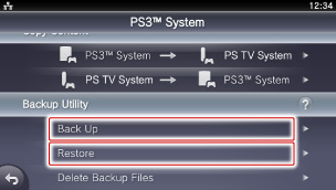 how to backup ps3